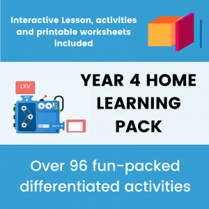 Year 4 Home Learning Number Pack